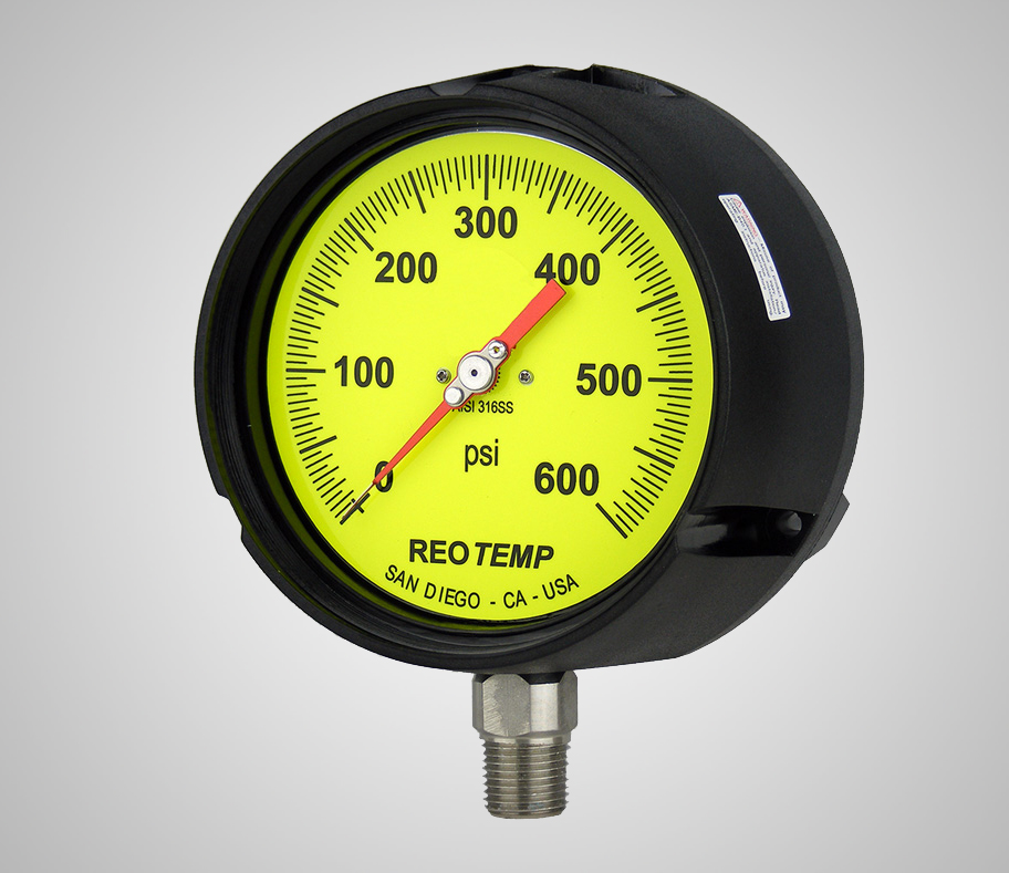 Fork Lift Gauge : Industrial process gauge pt p reotemp instruments