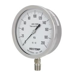 pressure gauges reotemp instruments