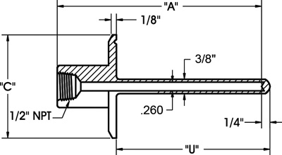 Sanitary-thermowell_drawing-2