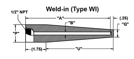 threaded-thermowell_weld-in_drawing_v2