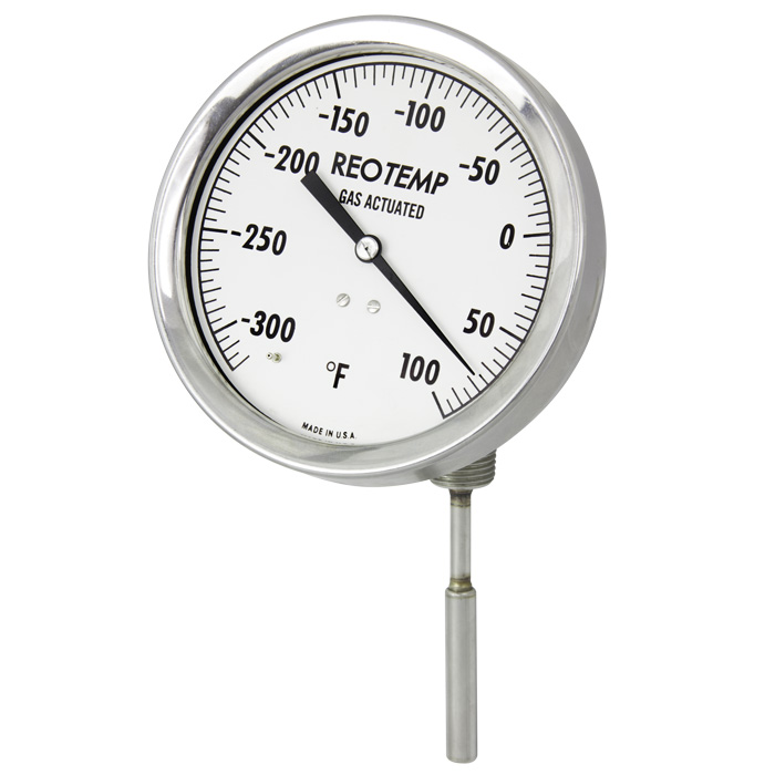 standard gas actuated thermometers reotemp instruments